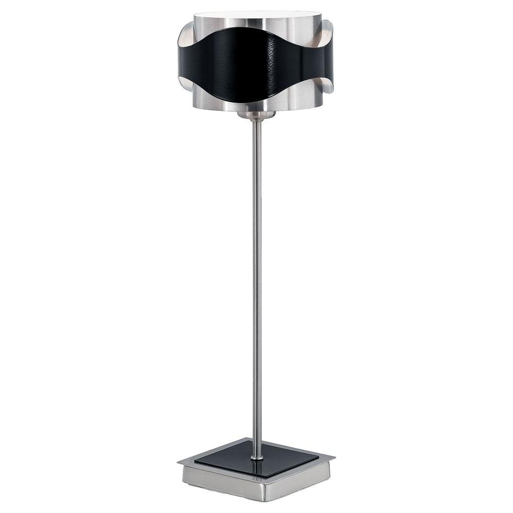 Eglo Catwalk 15 1 8 In Matte Nickel And Black Table Lamp