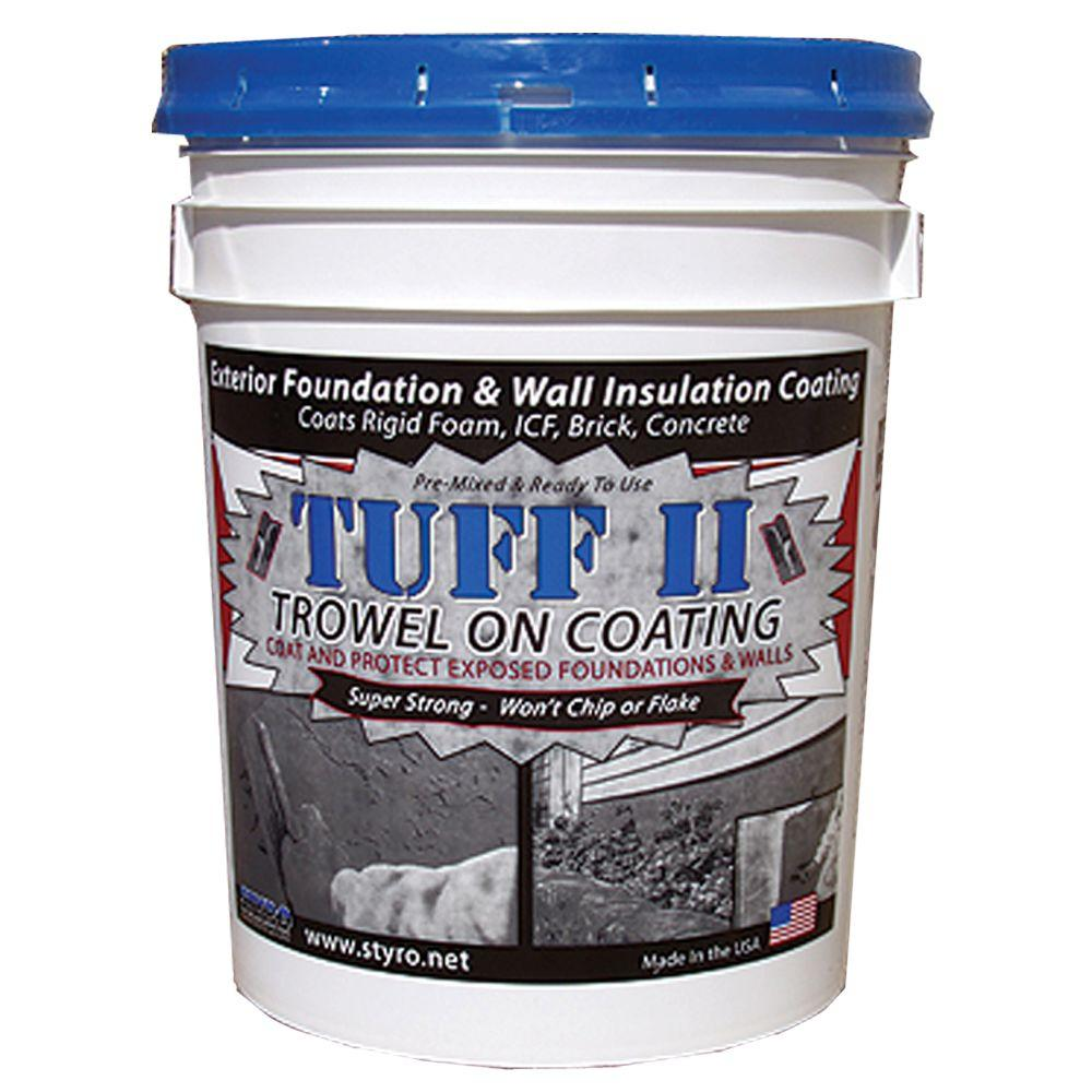 Styro industries 5 gal concrete grey tuff ii foundation - Exterior foundation insulation panels ...