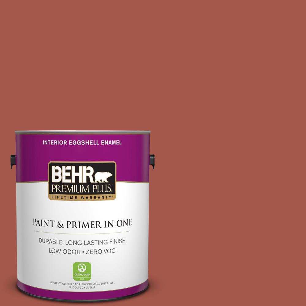 1 gal. #PPU2-15 Cajun Red Zero VOC Eggshell Enamel Interior Paint