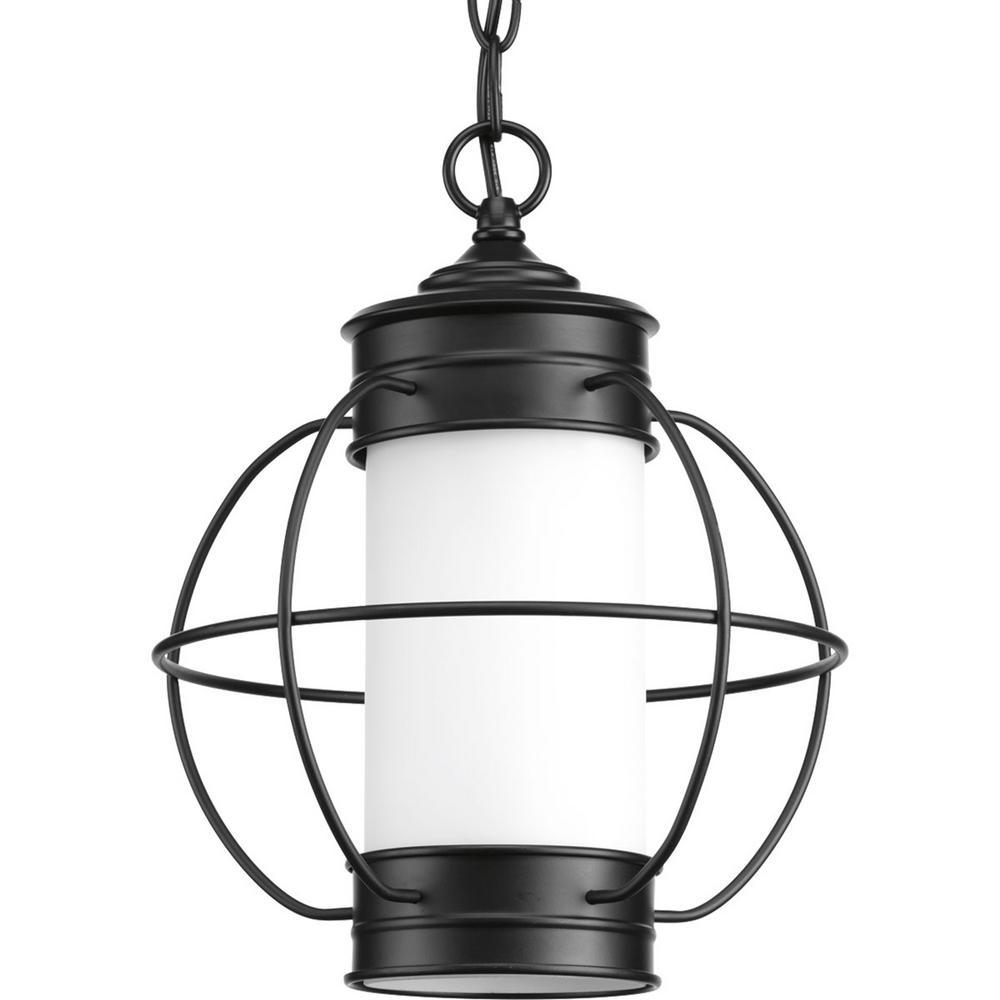 Haddon Collection Black 1-Light Outdoor Hanging Lantern