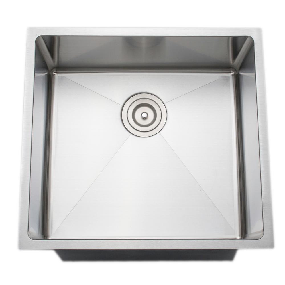 The Chefs Series Undermount 20 in. Stainless Steel Handmade Single Bowl Kitchen Sink