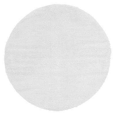Ritz Easton White 6 ft. 6 in. x 6 ft. 6 in. Round Rug