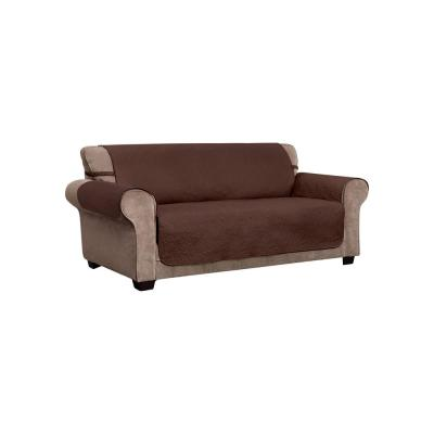 Belmont Leaf Secure Fit Coffee XL Sofa Furniture Cover Slipcover