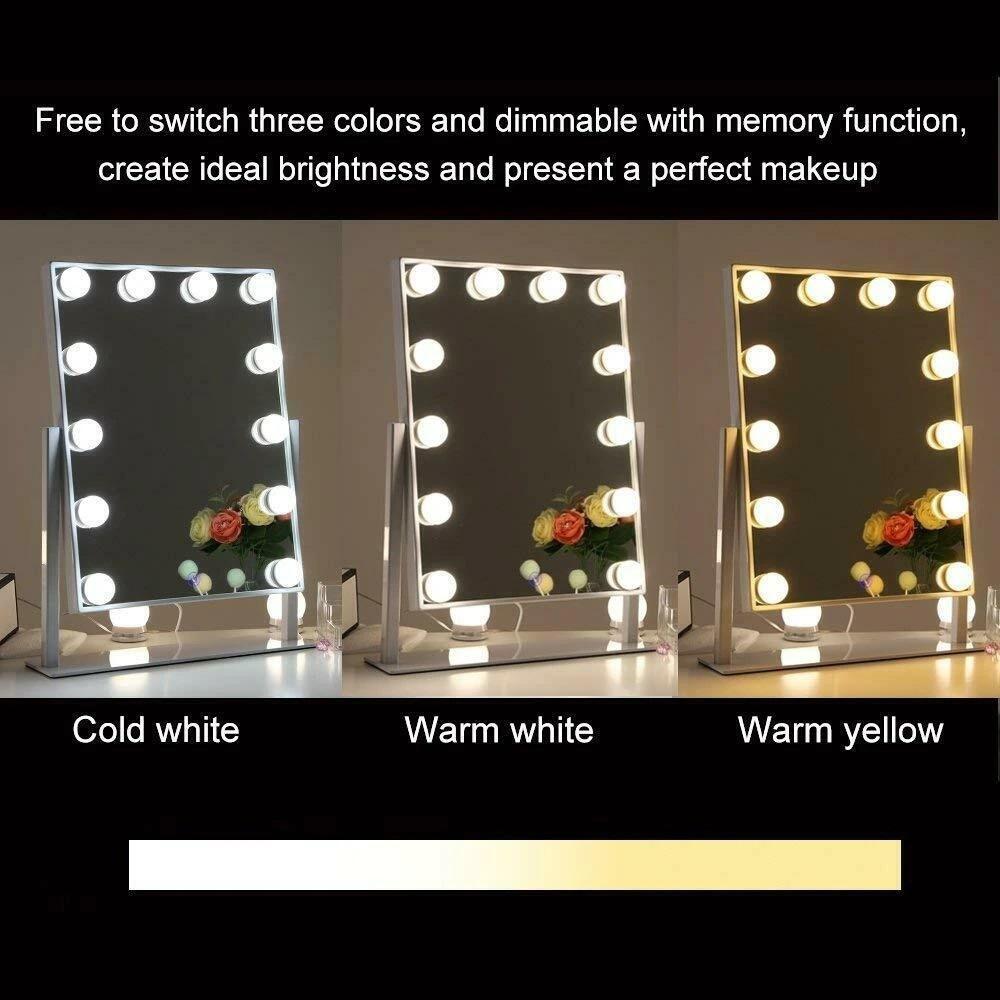 Boyel Living 14 In W X 19 In H Framed Rectangular Led Light Bathroom Vanity Mirror In White Xd 4030 White The Home Depot
