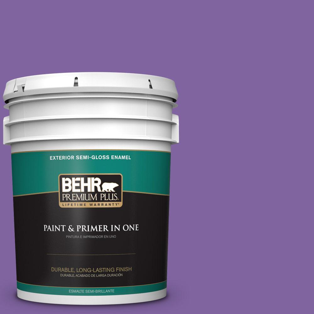 5 gal. #PPU16-03 Purple Paradise Semi-Gloss Enamel Exterior Paint