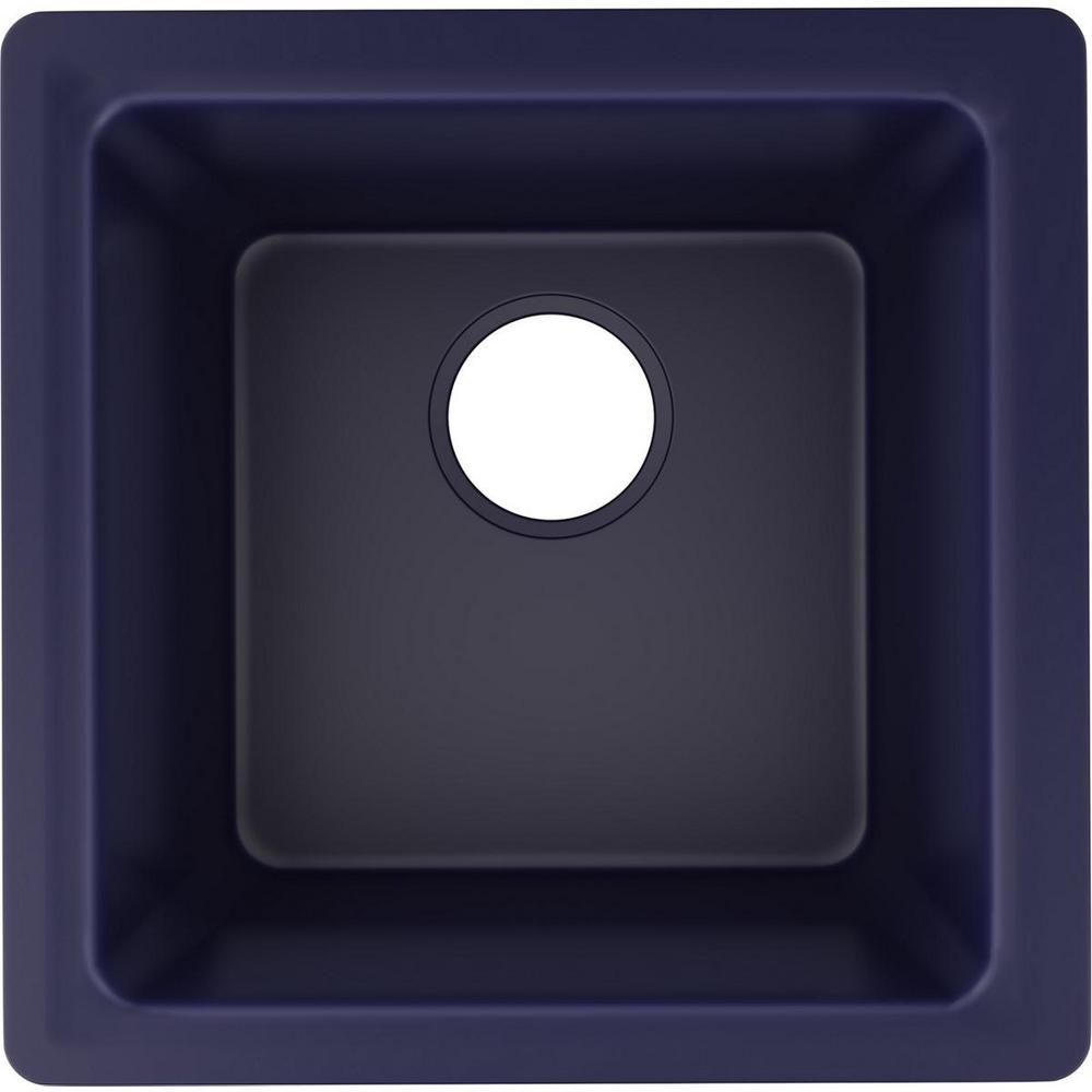 Luxe Drop-In/Undermount Quartz Composite 16 in. Single Bowl Bar Sink in Jubilee