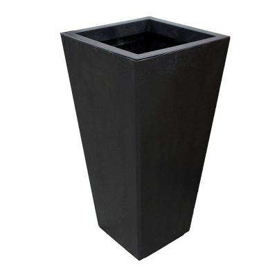 Sonata 17.8 in. x 36 in. Slate Rubber Self-Watering Planter