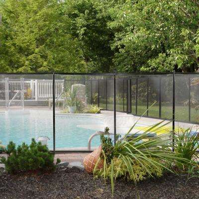 4 ft. x 12 ft. Mesh Pool Barrier Safety Fence in Black