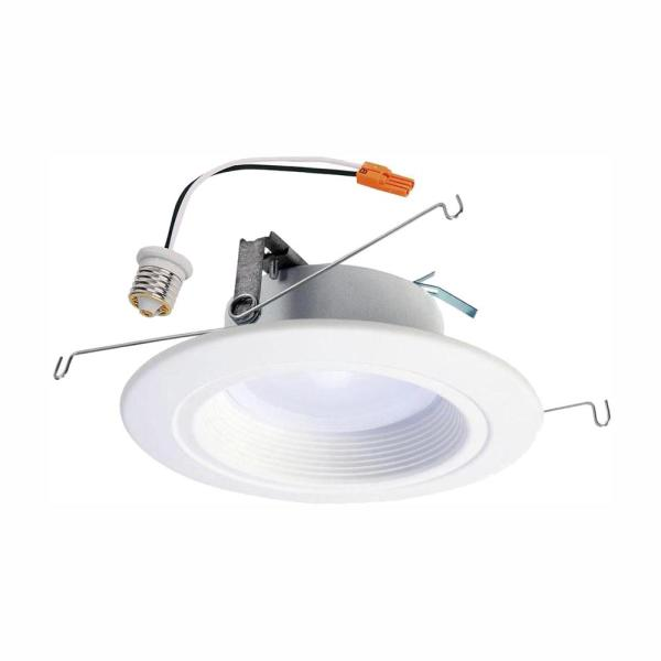 Halo Rl 5 In And 6 In 2700k 5000k White Integrated Led Recessed Ceiling Light Trim At Selectable Cct 665 Lumens Rl56069s1ewhr The Home Depot