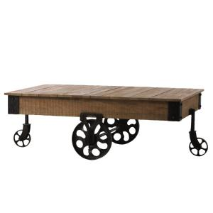 Gentil +5. Home Decorators Collection Holden Distressed Natural Mobile Coffee Table