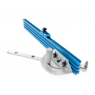 24 in. x 3 in. Table Saw Precision Miter Gauge System Multi-Track Fence with 27 Angle Stops
