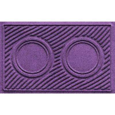 Purple 18 in. x 28 in. Dog Bowl Wave Pet Mat