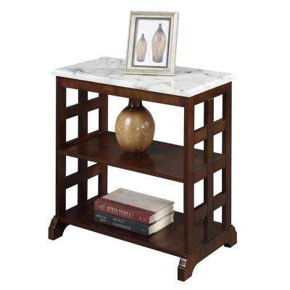 American Heritage Espresso Baldwin Chairside Table