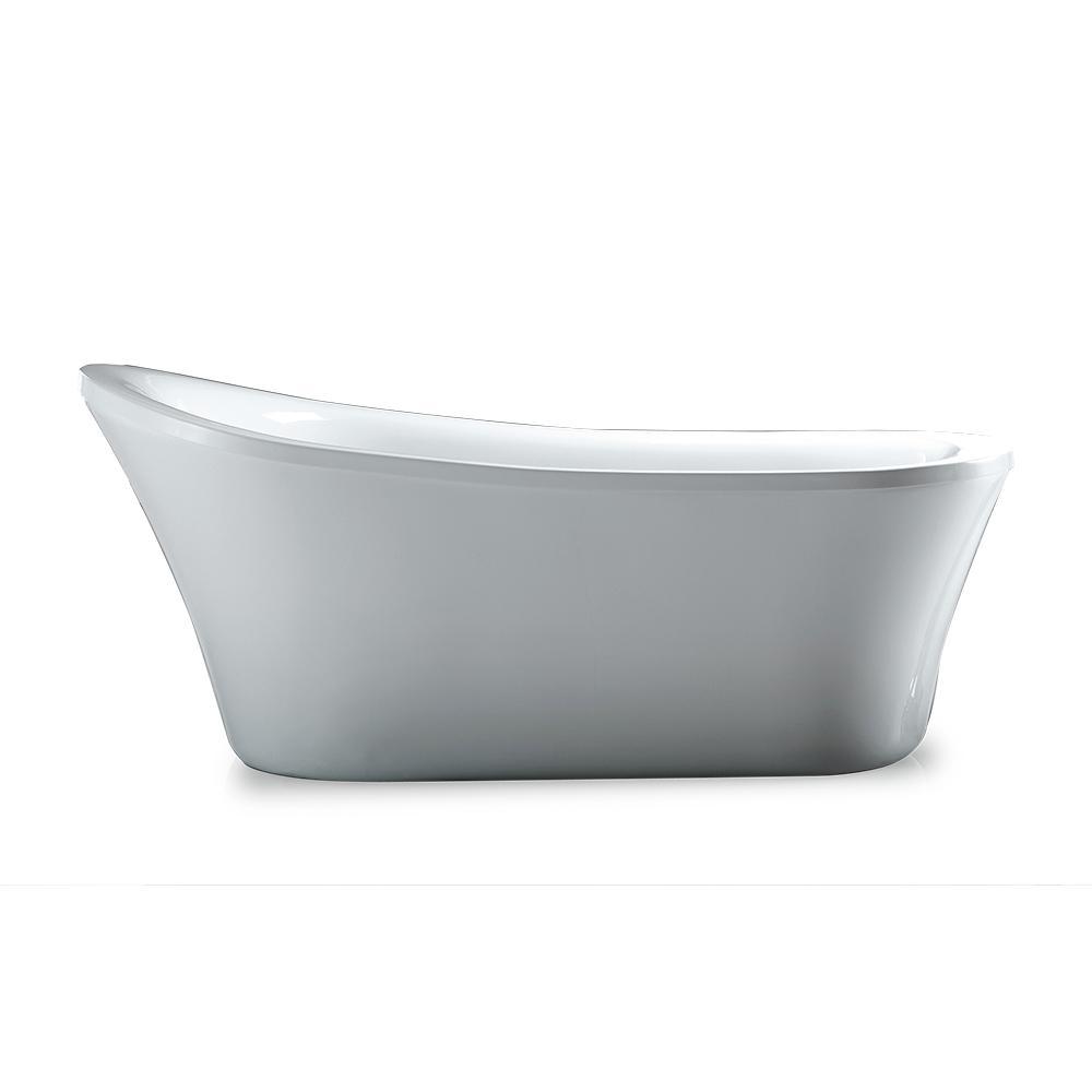 Delta Everly 60 In Acrylic Flatbottom Bathtub With