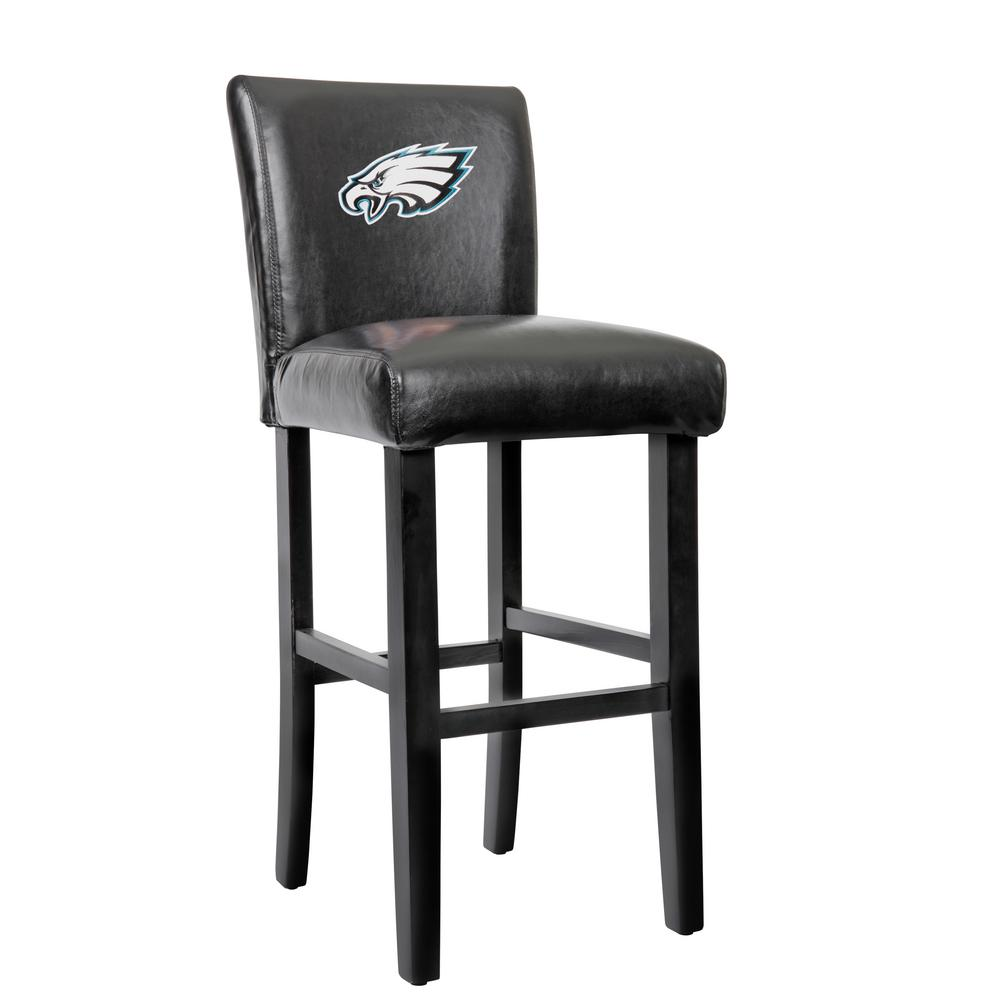 philadelphia eagles 30 in black bar stool with faux leather cover set of 2 30pe the home depot. Black Bedroom Furniture Sets. Home Design Ideas