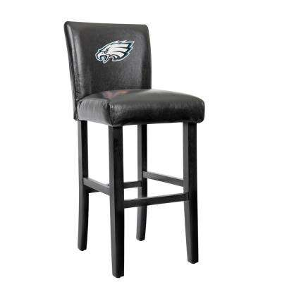 Philadelphia Eagles 30 in. Black Bar Stool with Faux Leather Cover (Set of 2)