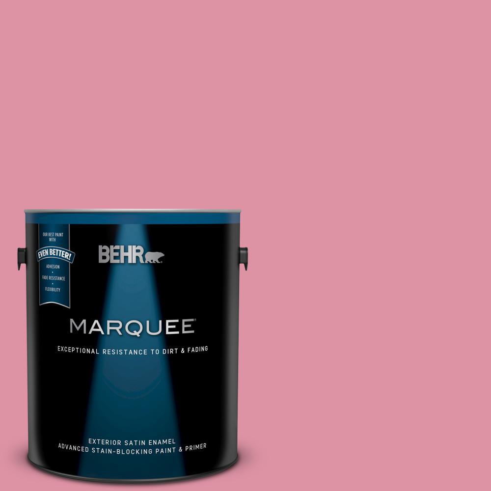 c113ba949fd53 BEHR MARQUEE 1 gal.  120C-3 Rose Marquis Satin Enamel Exterior Paint ...