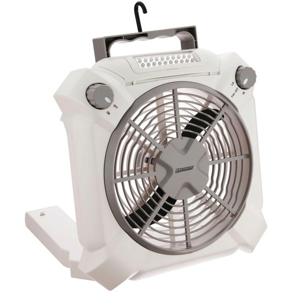 Battery Powered LED Fan Light with Adjustable Settings in White