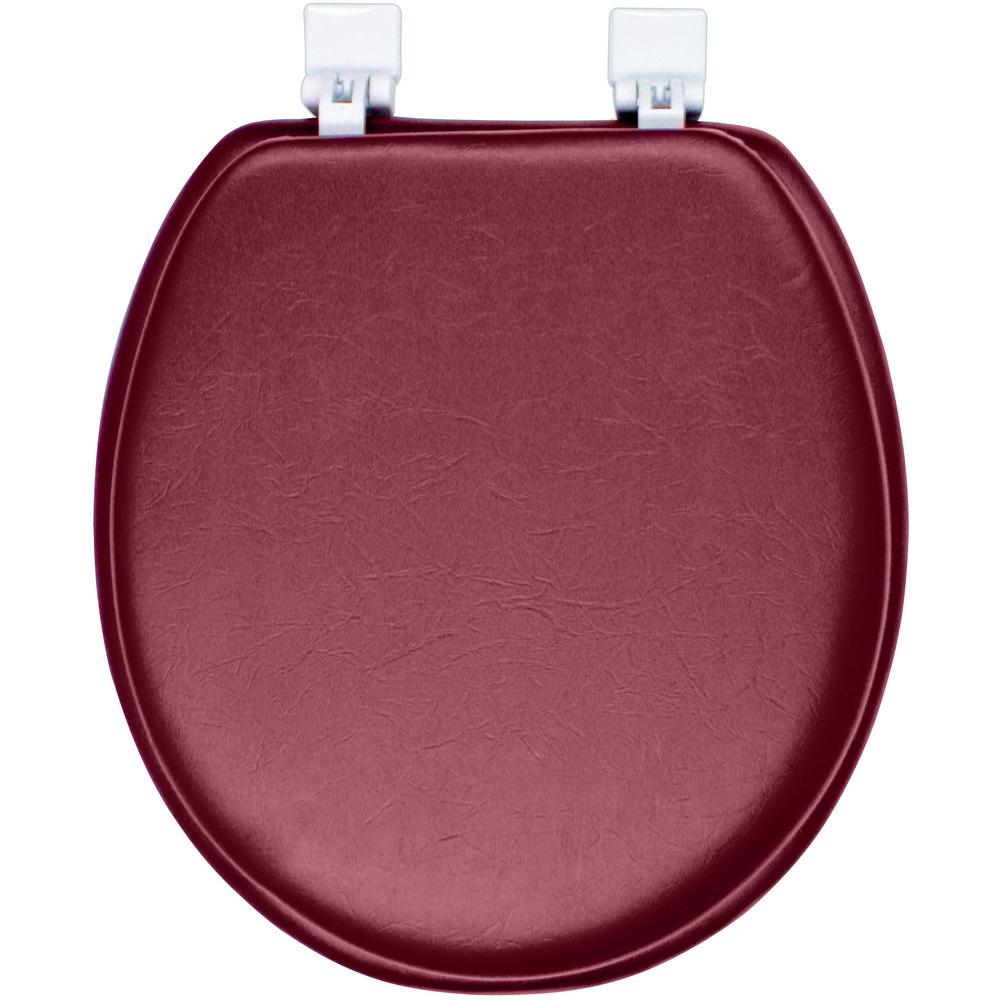 Classique Ginsey Round Closed Front Soft Toilet Seat in Merlot