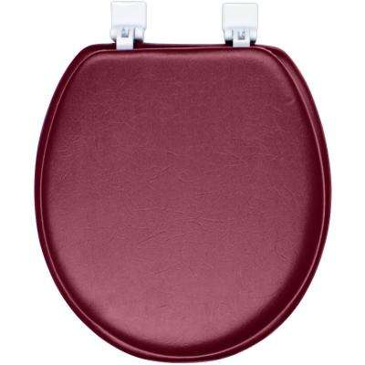Ginsey Round Closed Front Soft Toilet Seat in Merlot