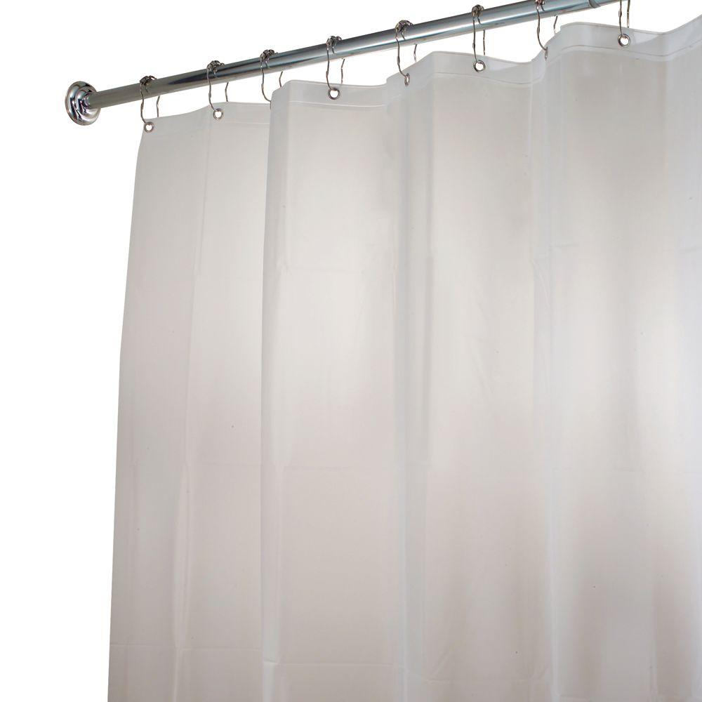 InterDesign Poly Extra Long Waterproof Shower Curtain Liner In White
