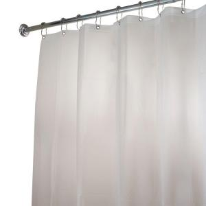 interDesign Poly Extra-Long Waterproof Shower Curtain Liner in White by interDesign