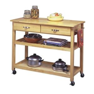 Internet #203131065. Home Styles Natural Kitchen Cart ...