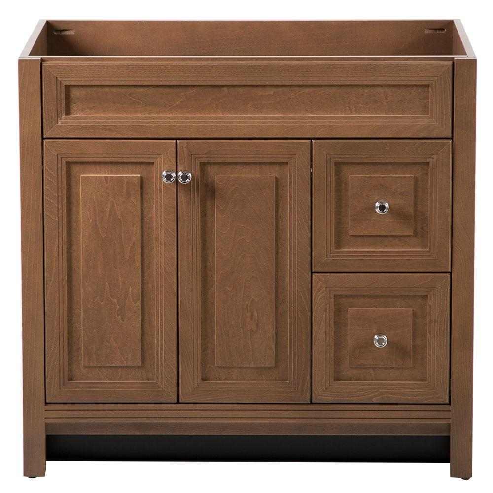 Home Decorators Collection Brinkhill 36 in. Vanity Cabinet Only in Toffee