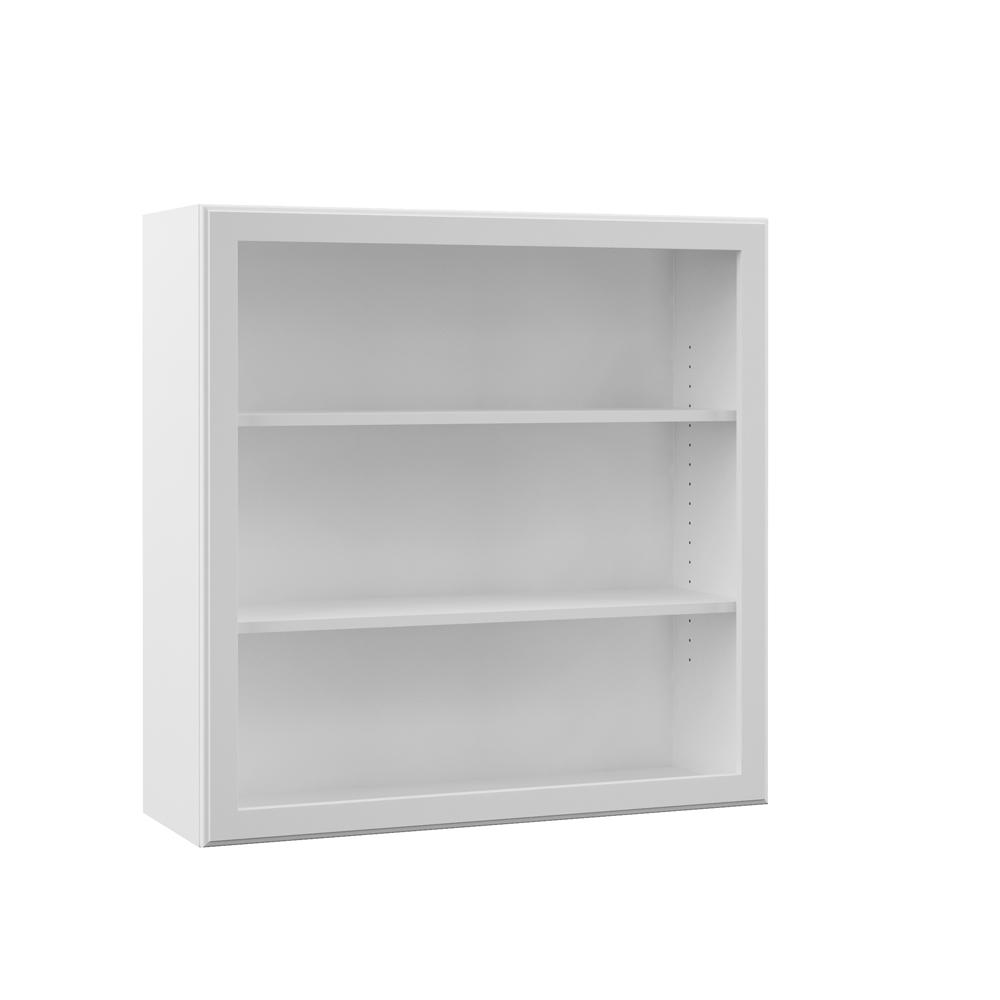 Attrayant Wall Open Shelf Kitchen Cabinet In White