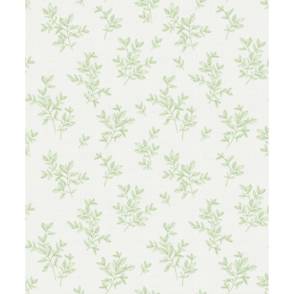 Advantage 57 8 Sq Ft Pothos Light Green Toss Wallpaper 2811