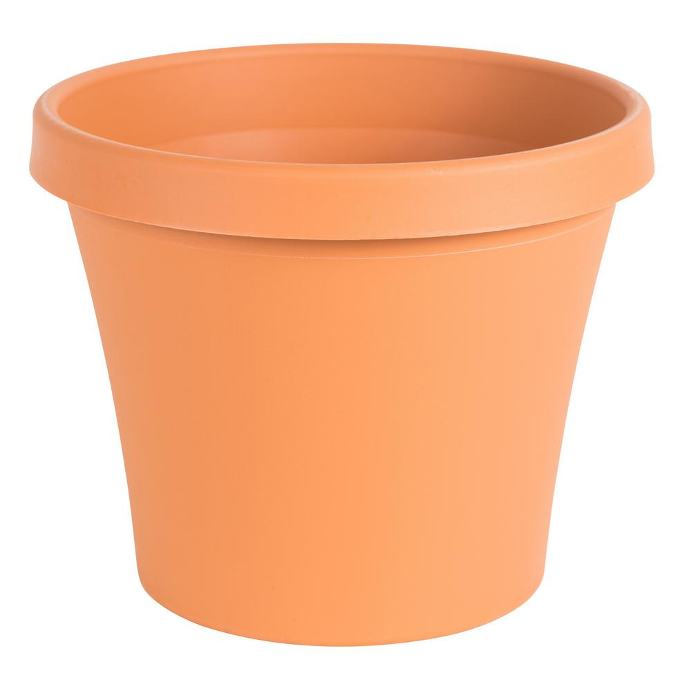 Terra 10 in. Terra Cotta Plastic Planter