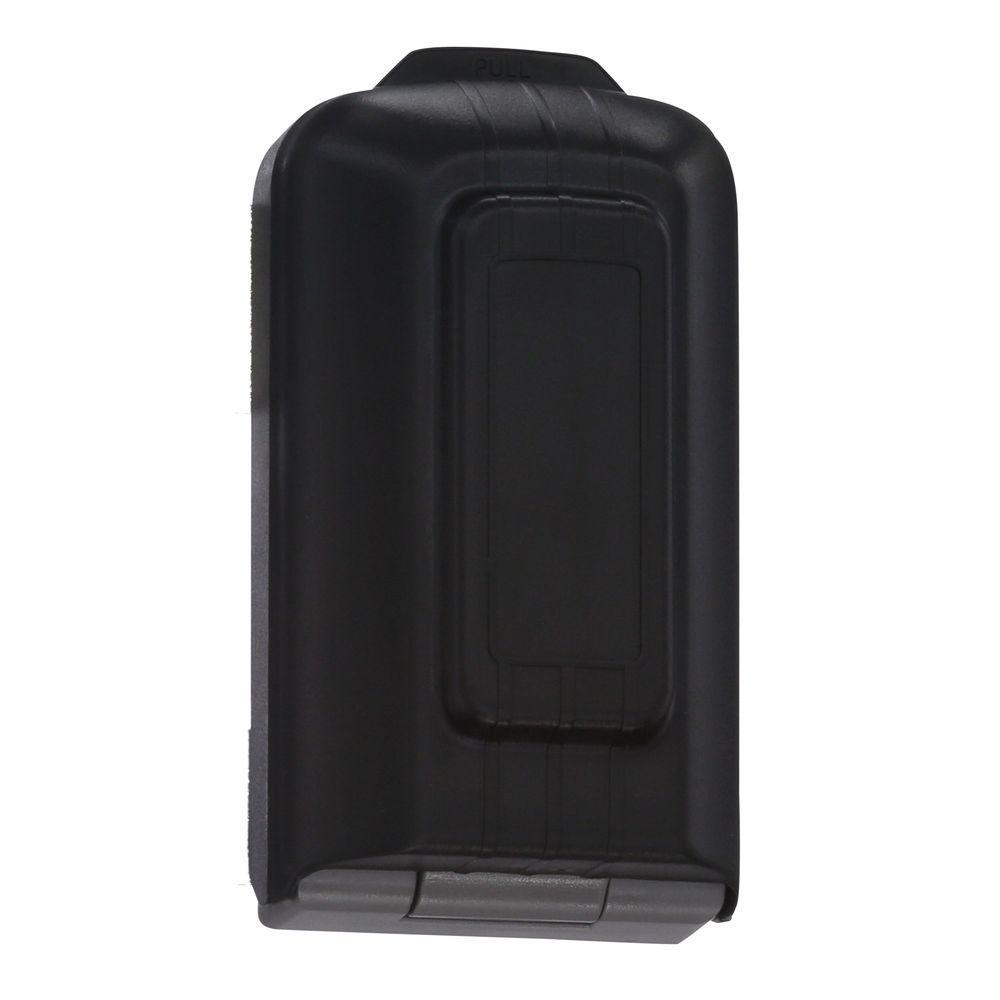 5-Key Lock Box with Pushbutton Combination Lock and Alarm Sensor, Titanium