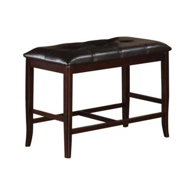 17 in. L x 38 in. W x 24 in. H Brown Rubber with Tufted Upholstery  Wood High Bench
