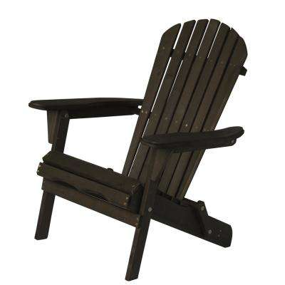 Villaret Dark Brown Folding Wood Adirondack Chair