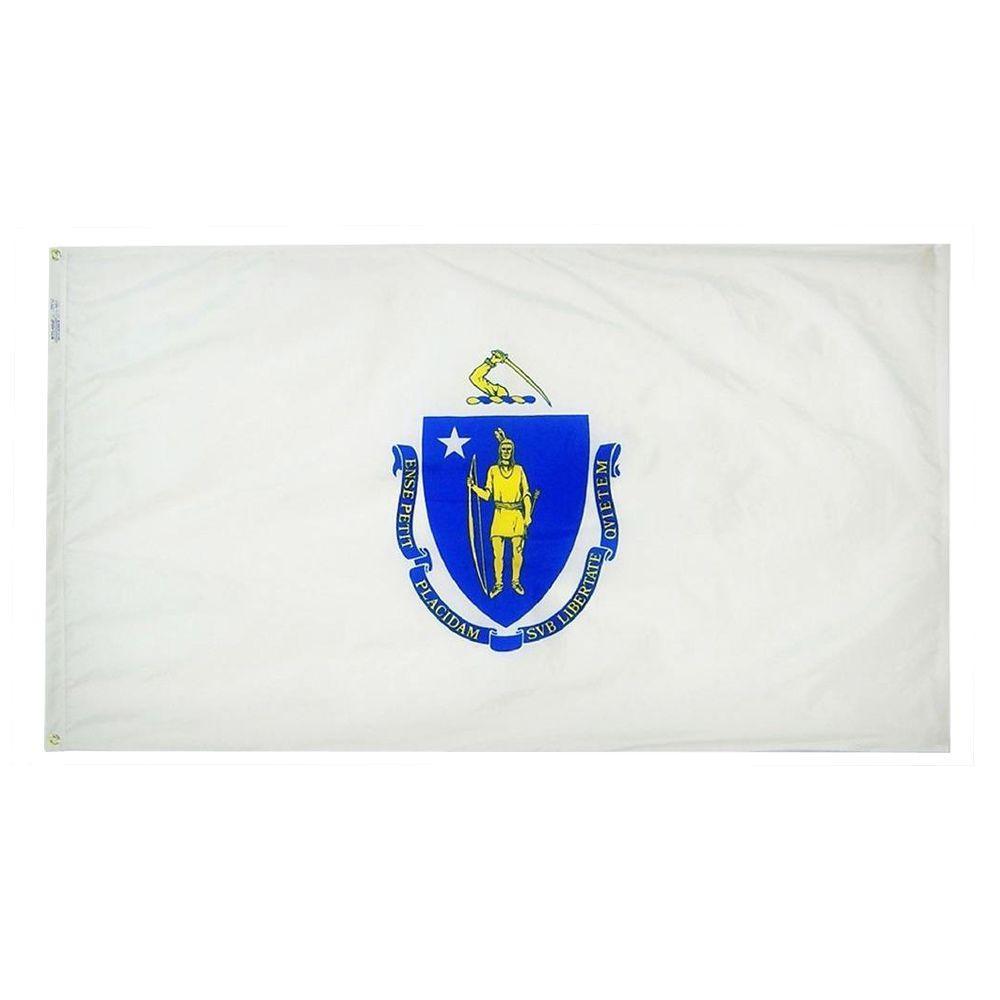 2 ft. x 3 ft. Nylon Massachusetts State Flag