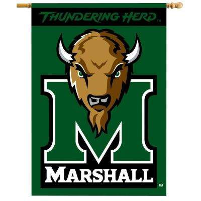 NCAA 28 in. x 40 in. Marshall 2-Sided Banner with Pole Sleeve