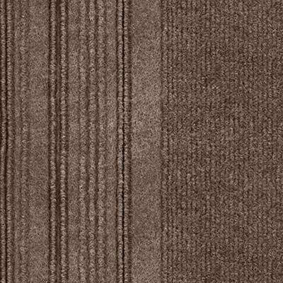 First Impressions Barcode Rib Espresso Texture 24 in. x 24 in. Carpet Tile (15 Tiles/60 sq. ft./case)