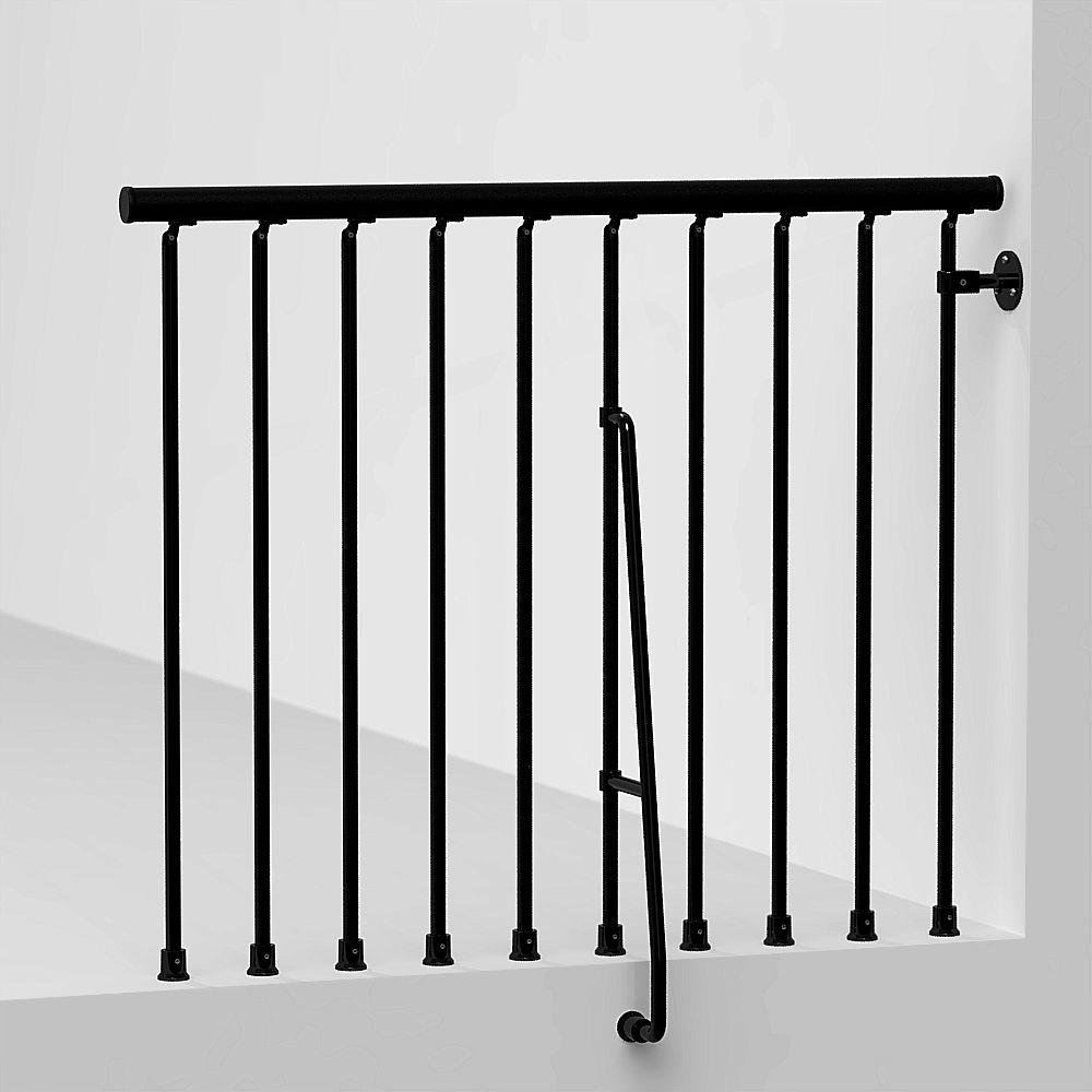 Fontanot Arke Civik 47 in. Black Balcony Rail Kit