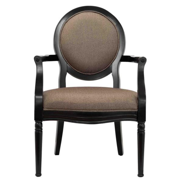 Midnight Antique Black 3-Piece Traditional Accent Chair with End Table Set