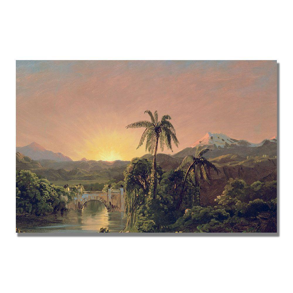 Trademark Fine Art 22 in. x 32 in. Sunset in Equador Canvas Art