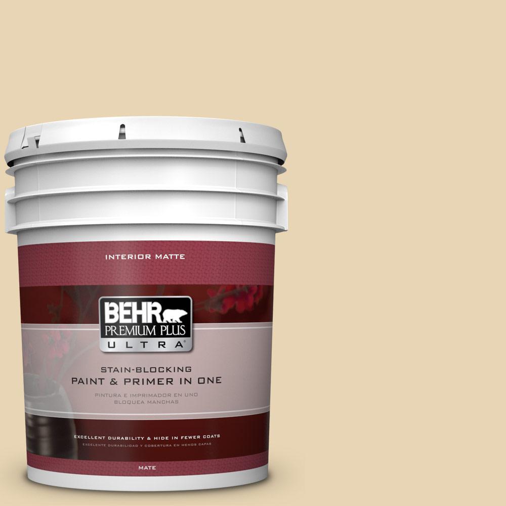 BEHR Premium Plus Ultra 5 gal. #UL180-18 Yellowstone Flat/Matte Interior Paint