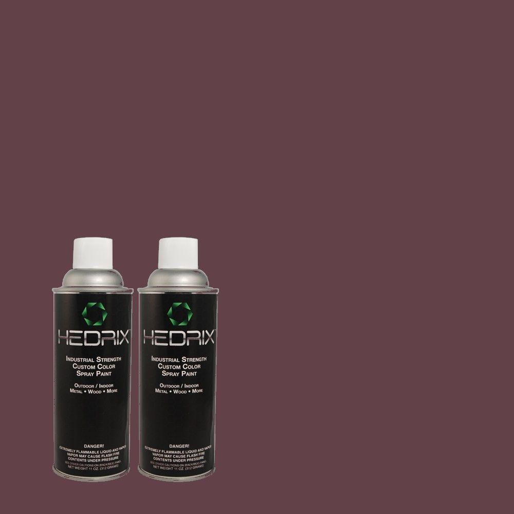 Hedrix 11 oz. Match of S-H-690 Interlude Low Lustre Custom Spray Paint (2-Pack)