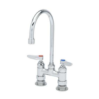 Double Pantry 2-Handle Standard Kitchen Faucet with Rigid or Swivel Gooseneck in Chrome