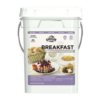 4-Gal Pail Augason Farms Breakfast Variety Pail Emergency Food Supply 6 Varieties 25-Year Shelf Life