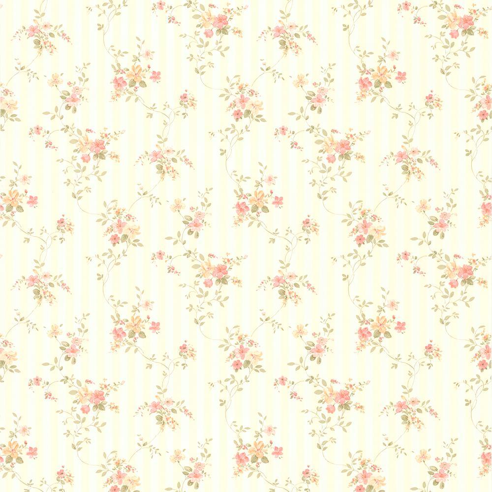 Estella Light Brown Textured Stripe Wallpaper