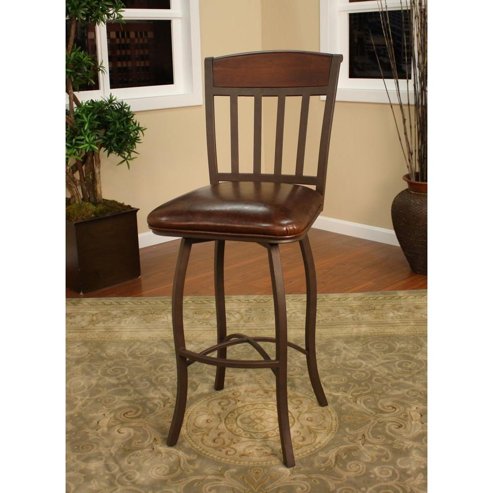 American Heritage Lancaster 30 in. Ginger Spice Cushioned Bar Stool