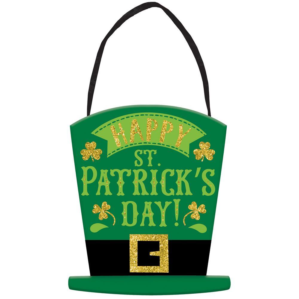 5.5 in. x 4.5 in. Happy St. Patrick's Day MDF Sign (6-Pack)