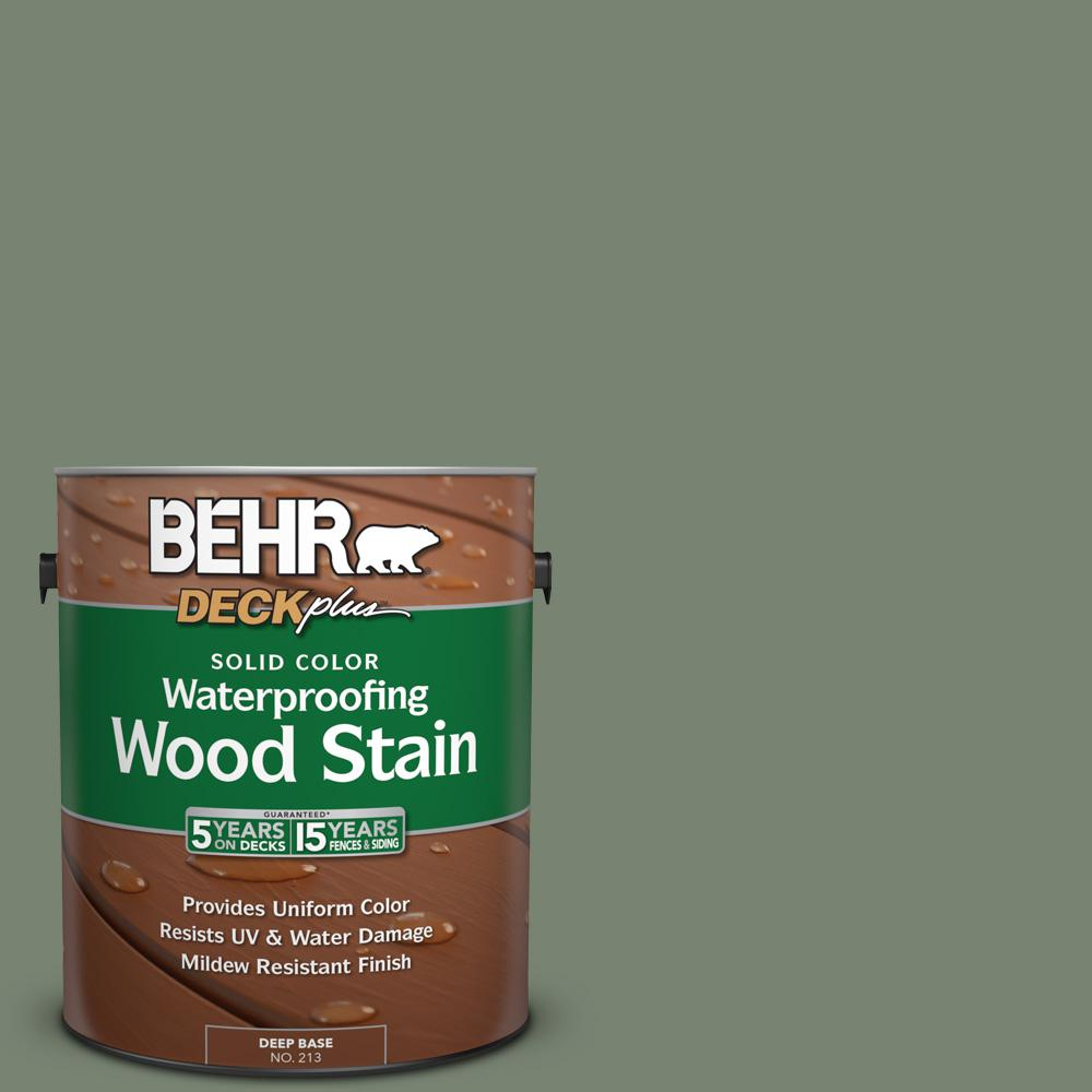 1 gal. #ICC-77 Sage Green Solid Color Waterproofing Wood Stain