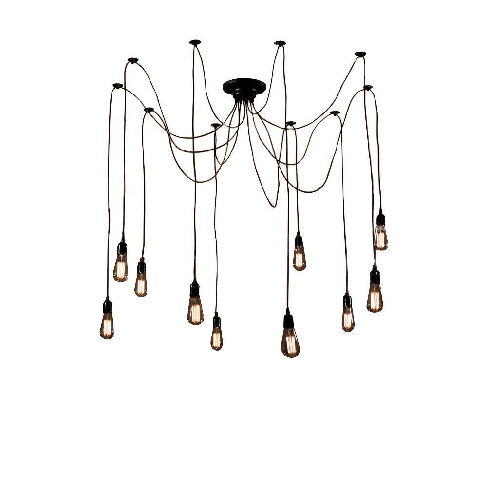Edison Zendaya Collection 10-Light Black Indoor Chandelier