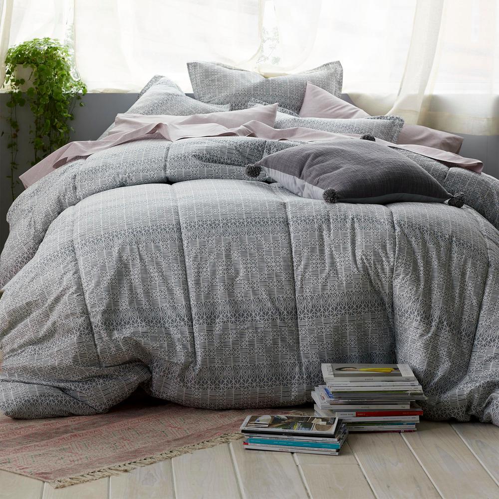 Basket Geo Percale Comforter Set